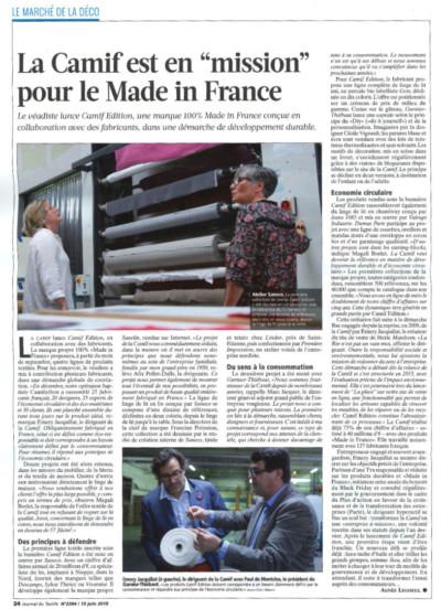 Article Saneco dans le journal du textile