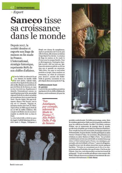 Saneco dans la presse - Eco121